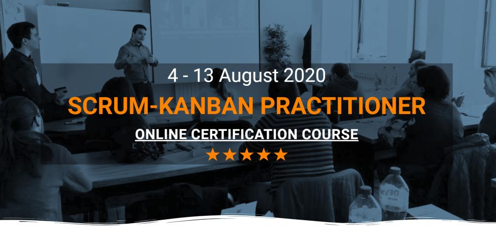 Scrum-Kanban Practitioner Online Course poster